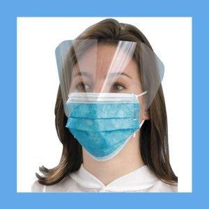 Earloop Mask with Effective EyeShield Teal 25 Per Box