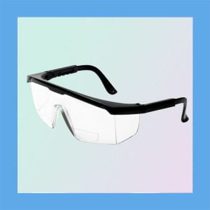 Grafco 9677R Protective Safety Glasses with Readers and Side Shields, Box of 12