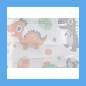 Disposable 3 PLY Face Masks for Kids HAPPY DINOSAUR – 50 per box