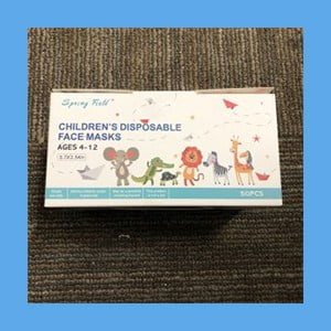 Disposable Effective Face Masks for Kids Blue – 50 per box