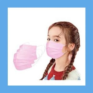 Disposable Effective Face Masks for Kids Pink – 50 per box
