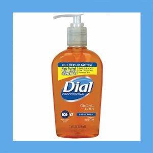 Dial 84014 Antimicrobial Liquid Soap, Pump, 7-1/2 oz, Original Gold