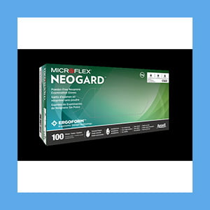Microflex Neogard Neoprene Exam Gloves, XS, 100 Per Box