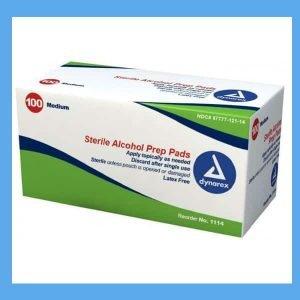 Dynarex Sterile alcohol prep pads 70% isopropyl alcohol peroxide