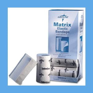 Medline Elastic Bandages with Velcro Closure, 4″ x 5 Yards