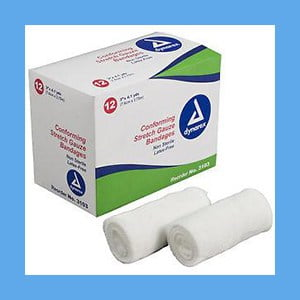 Dynarex Conforming Non-Sterile Stretch Gauze Bandage Roll 3″ – Strong and Durable
