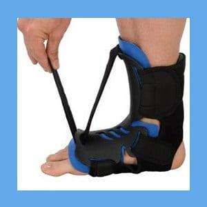 Plantar Fasciitis Dorsal Hybrid Night Splint with Neoprene Heel Strap