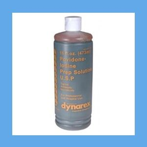 Dynarex Povidone Iodine Solution, 8 oz. bottle