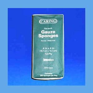 Gauze Sponges 4″ x 4″, 12 Ply Non-Sterile