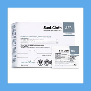 Sani-Cloth Germicidal Disposable Wipes Large Wipe – 50 Wipes