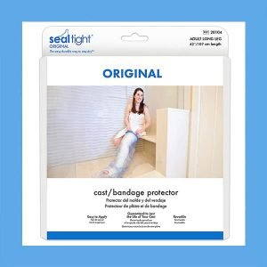 Seal Tight Best Waterproof Cast Protector and Bandage Shower Cover, Regular Short Leg 24″