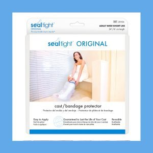 Seal Tight #1 Brand – Best Leg Cast and Bandage Protector for Shower, Adult Wide Short Leg. 24″