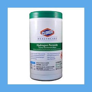 Clorox Hydrogen Peroxide Wipes Regular 155 Per Canister