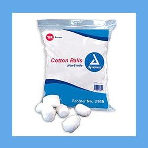 Dynarex Cotton Balls Non-Sterile- Large 1000/Bag