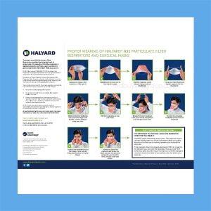 Halyard Fluidshield 3 N95 Particulate Filter Respirator and Surgical Mask Orange – Regular 35 Per Box