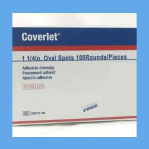 Best #1 Adhesive Coverlet Bandages – Coverlet Adhesive Bandages, Spots 1 1/4″ Oval