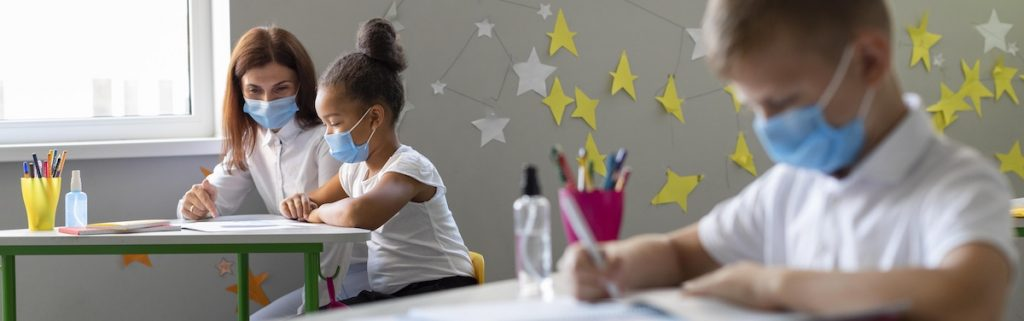 kids mask-classroom