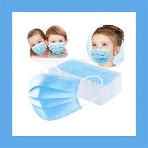 Protective Children's Disposable Face Masks Blue 50 per box